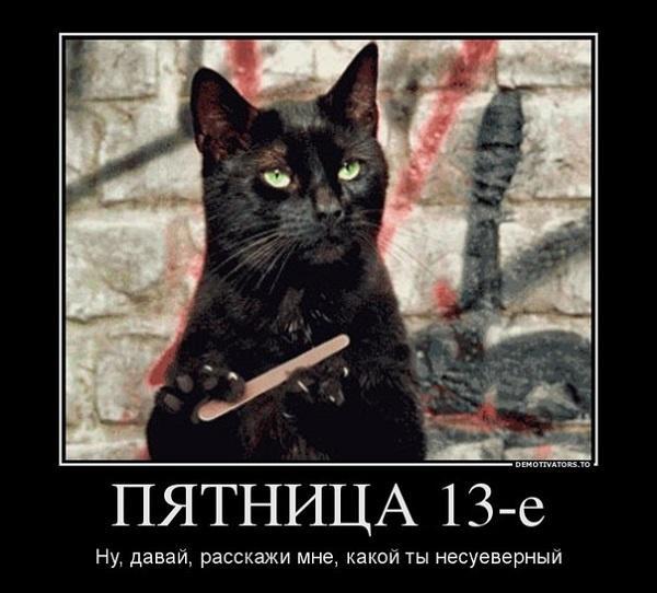черная кошка с пилочкой для ногтей
