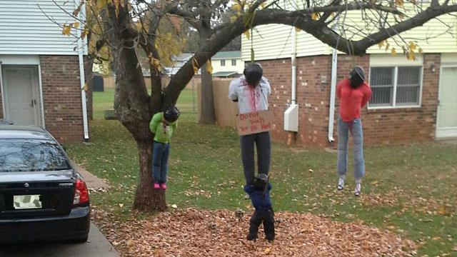 """""""семья"""", повешенная на дереве"""