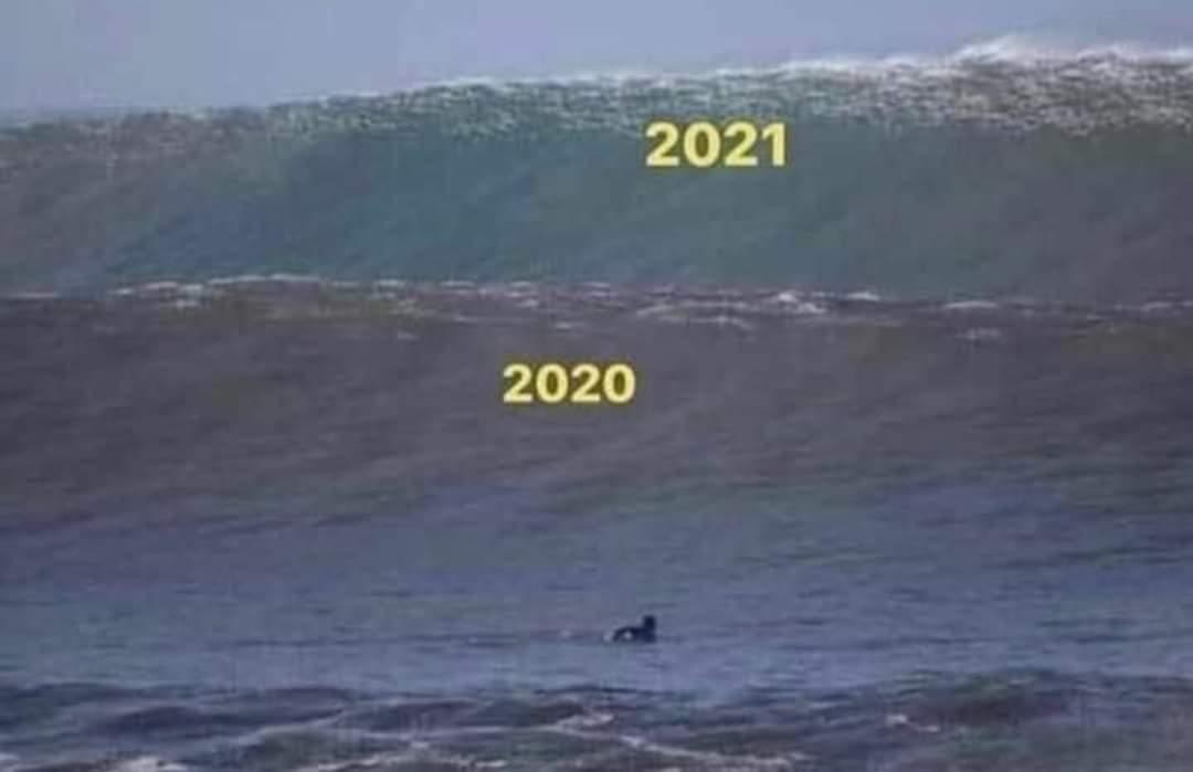 две волны 2020 и 2021 мем