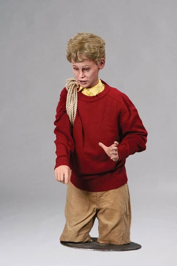 восковая фигура маколея калкина в детстве