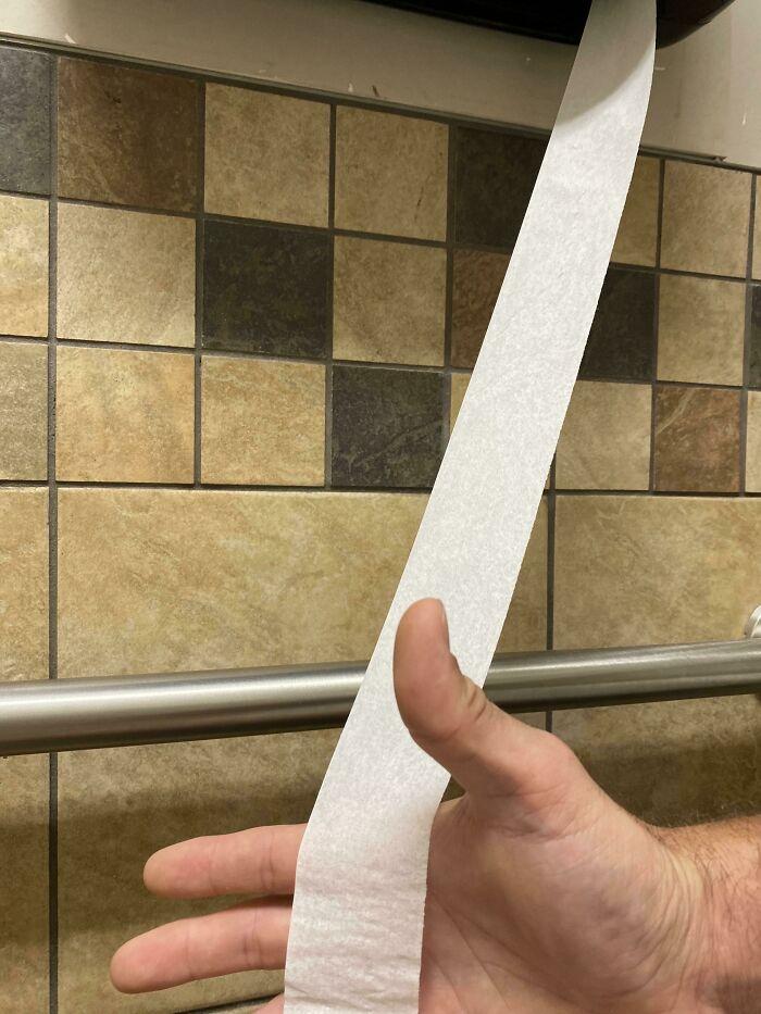 тонкая туалетная бумага