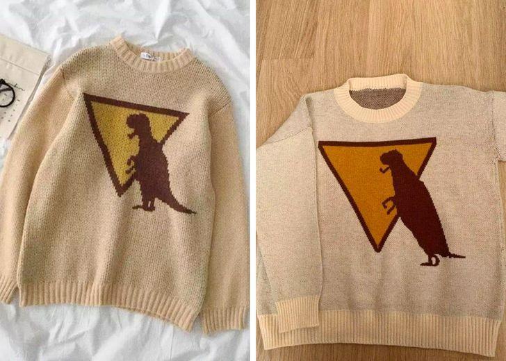 детский свитер с динозавром