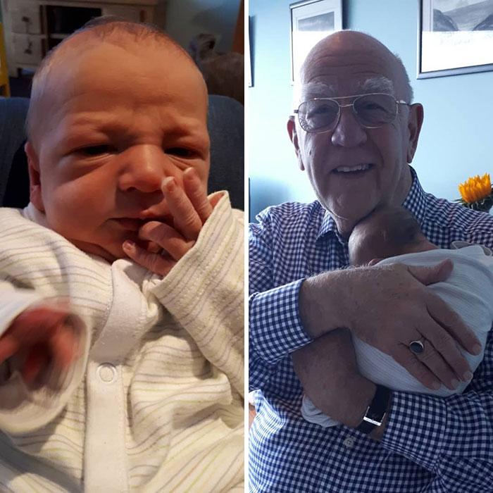 маленький мальчик и его дедушка