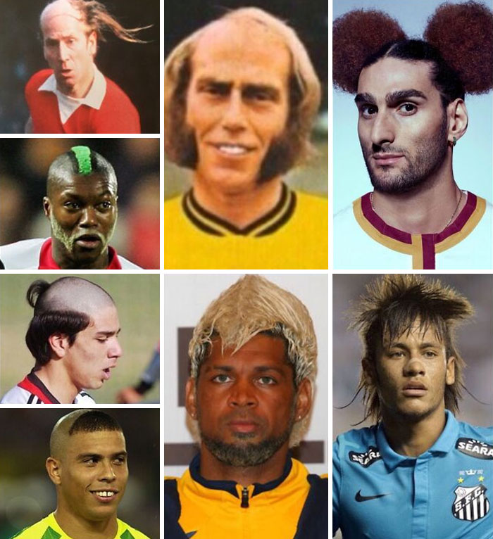 коллаж из фото футболистов