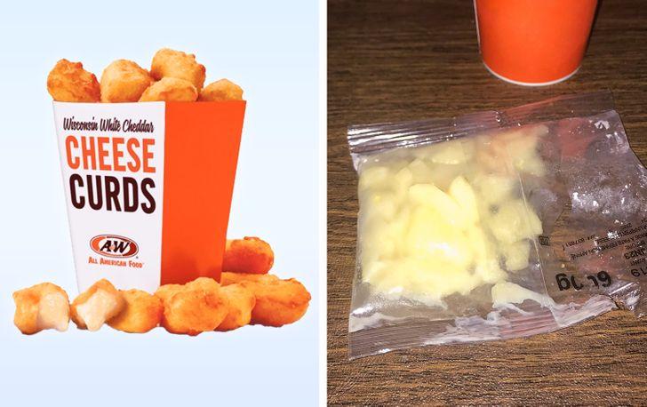коробка с сырной закуской