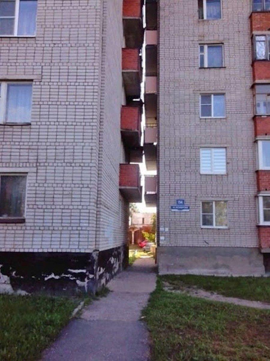 балконы смотрят друг на друга