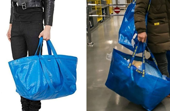 большая синяя сумка