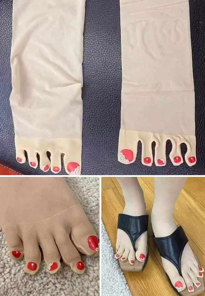 колготки телесного цвета с пальцами