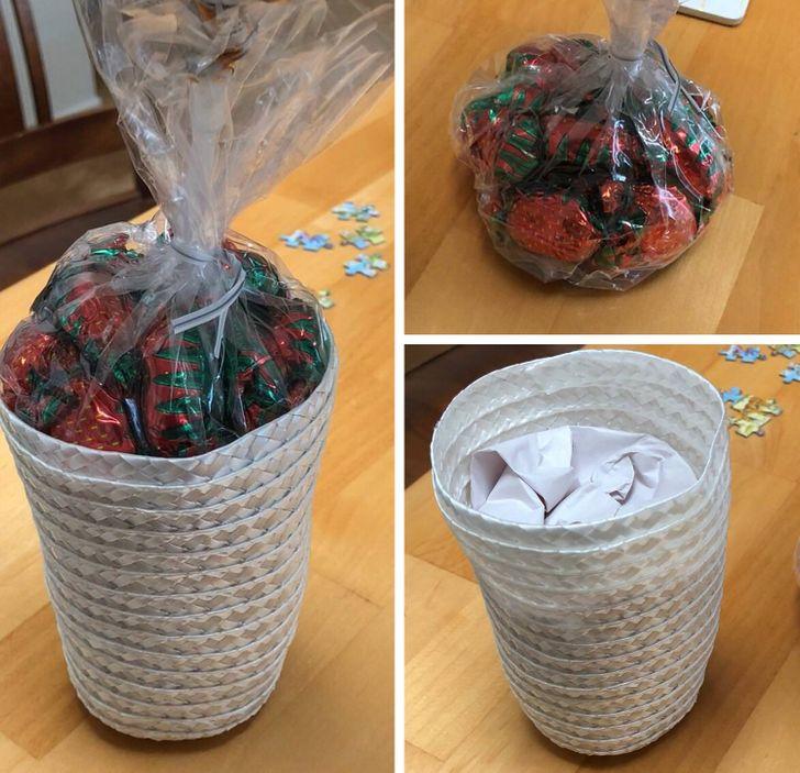 конфеты в корзинке