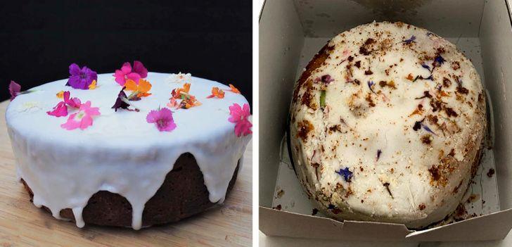 коллаж с двумя тортами