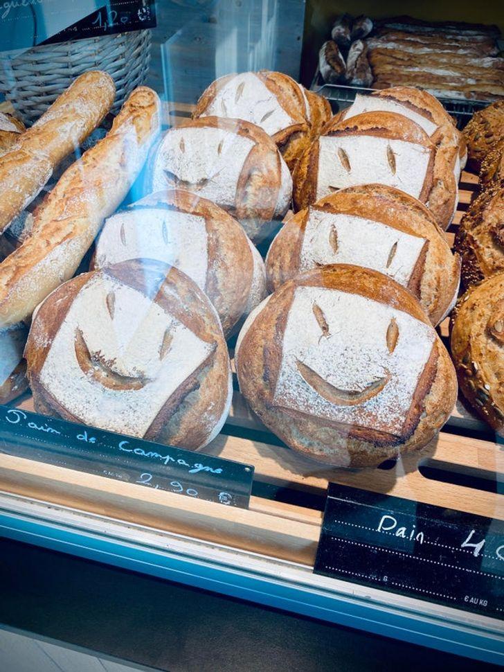 витрина с хлебом
