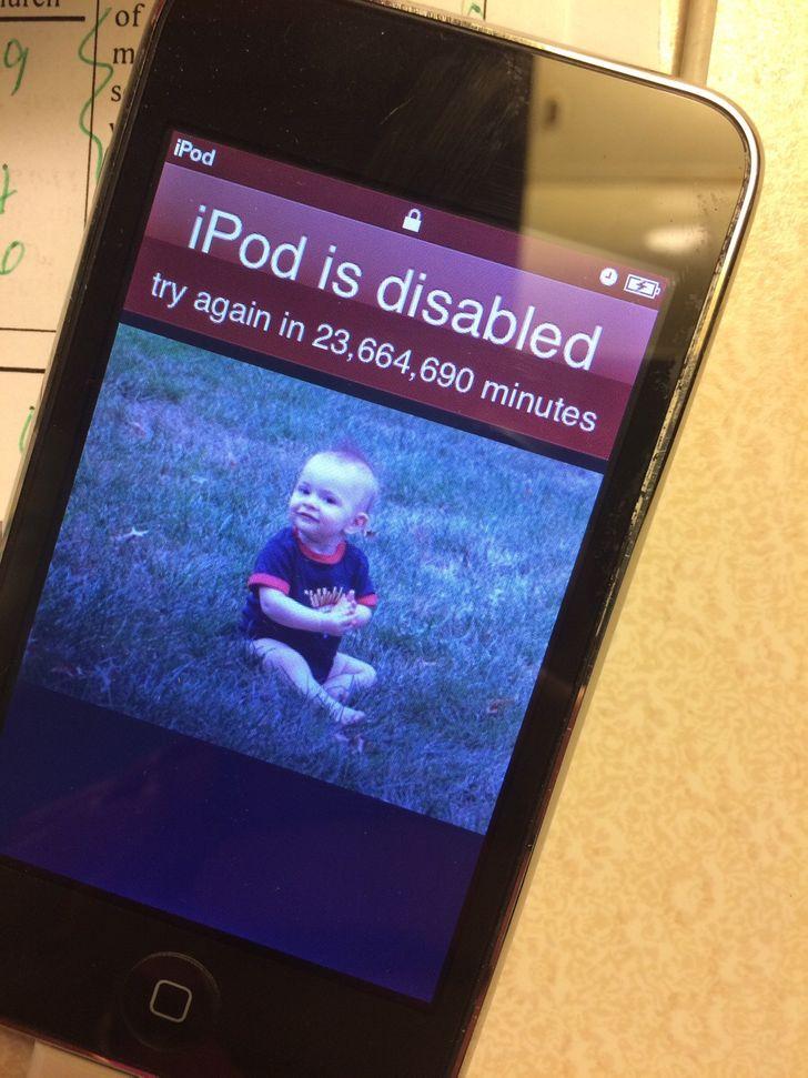 ipod с фото ребенка