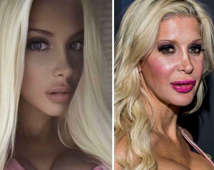 блондинка в инстаграме и в жизни